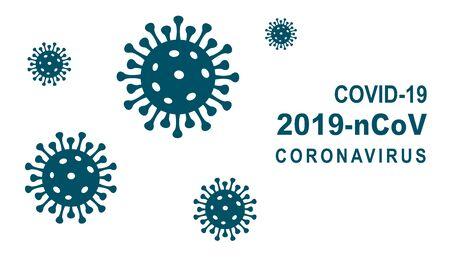 The rapidly spreading coronavirus outbreak in the world concept. Coronavirus, COVID-19, 2019-nCoV infection outbreak and coronaviruses influenza banner - stock vector