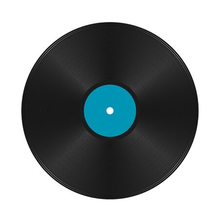 Musical record, vintage vinyl - vector Ilustração