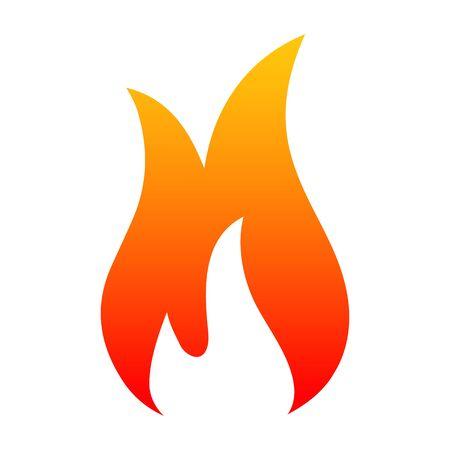 Fire icon - stock vector