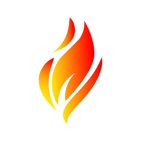 Fire icon illustration, flame - vector Illustration