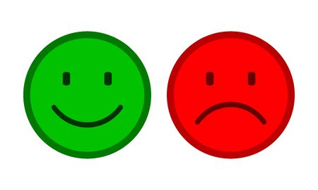 Two smilies - stock vector