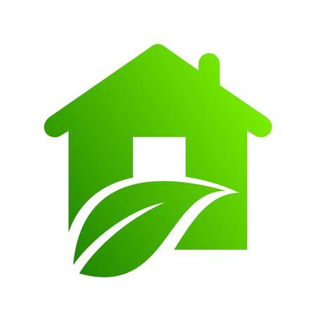 Eco house icon - vector
