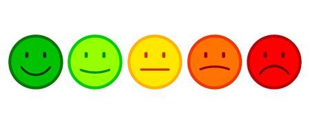 Five smileys  illustration