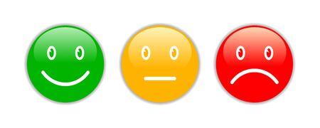 Three 3d smileys emoji Ilustrace