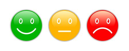 Three 3d smileys emoji Vettoriali