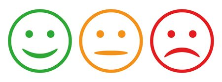 Three smilies - vector for stock