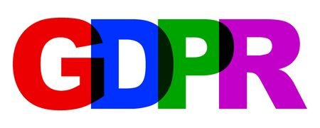 General Data Protection Regulation (GDPR) colorful sign