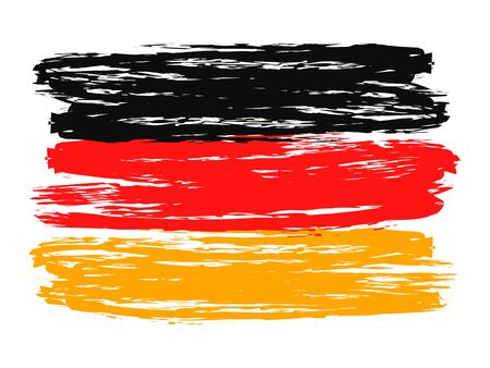 Germany colorful brush strokes painted flag Ilustração