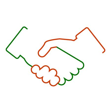 Handshake, partnership, one line illustration