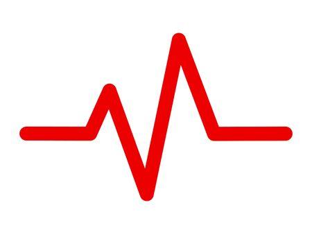 Heart pulse, heartbeat, one line, cardiogram illustration Çizim