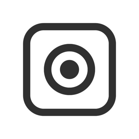 Social media icon, photo camera  icon - vector