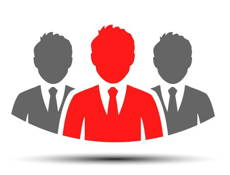 Teamwork icon, staff, partnership, three person - vector for stock