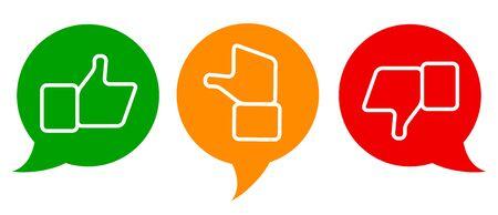 Valuation thumbs symbols Vettoriali