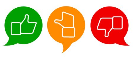 Valuation thumbs symbols Ilustrace