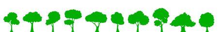 Set green tree – vector