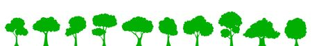 Set green tree – vector 向量圖像