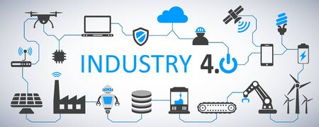 Industry 4.0 infographic factory of the future