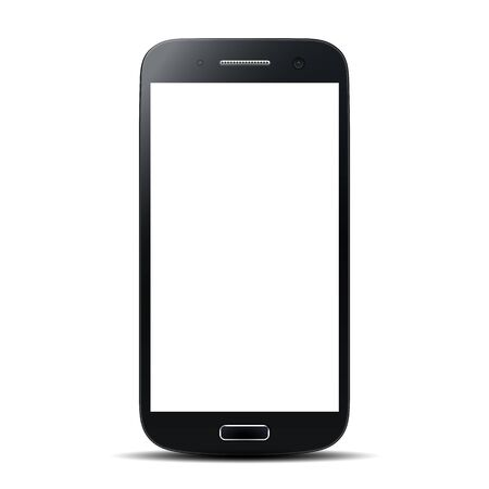 Black smartphone with white screen  illustration