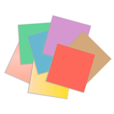 Set colored sticky papers illustration