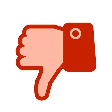 Thumb down, i don't like it, No - vector Иллюстрация