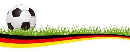 Soccer ball on the german flag - stock vector