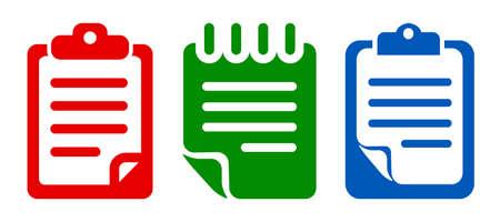 Three document icon set - stock vector