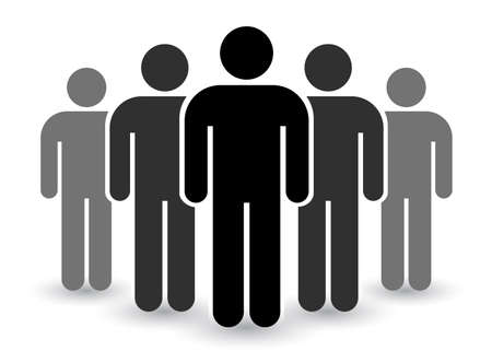 People icon set in trendy flat style. Persons symbol infographics website design