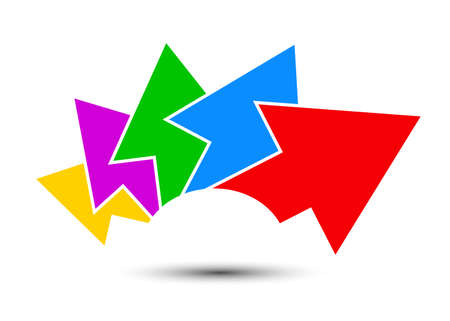 Group colored arrows directed upwards - for stock Иллюстрация