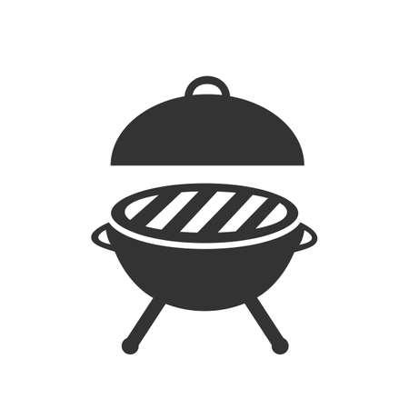 Silhouette grill icon - stock vector