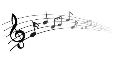 Music notes, group musical notes - vector