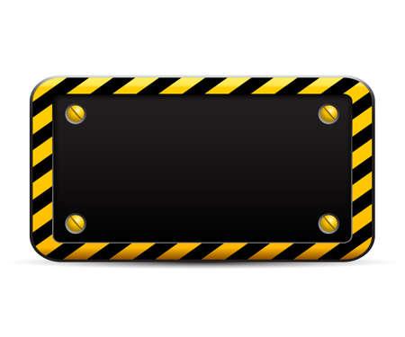 Construction yellow sign - stock vector