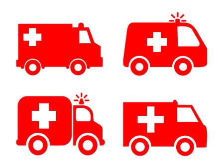 Set ambulances icon - stock vector