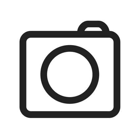 Photo camera icons sign - stock vector icon Stock Illustratie