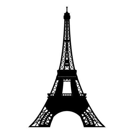 Eiffel tower symbol vector illustration - vector