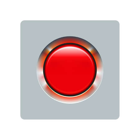Red switch button - vector