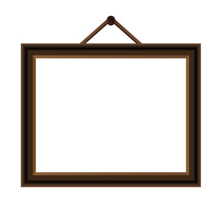 Picture frame. Photo art gallery - stock vector Stock Illustratie