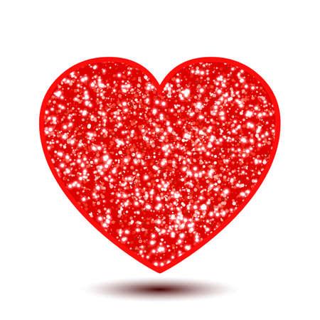 Elegancy shine red heart sign - for stock