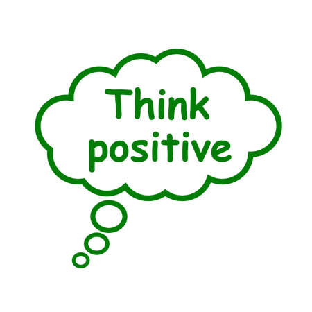 Think positive, cloud icon - stock vector