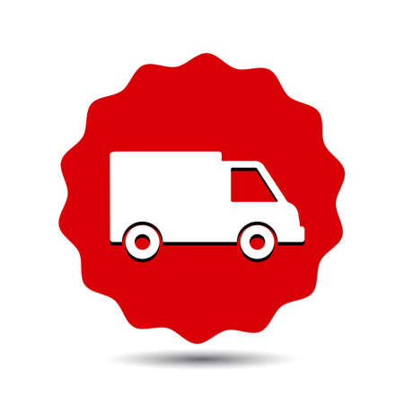 Delivery truck, fast shipping service - stock vector