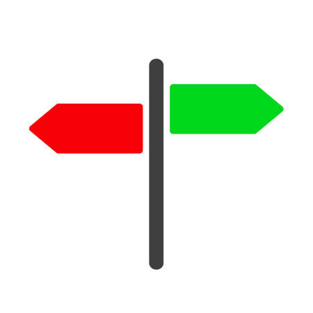 Guidepost and pointing wooden arrows index road signs - vector