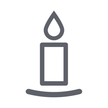 Candlestick line icon for apps and websites - stock vector