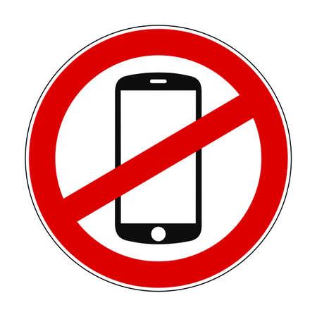 Phone ban sign - stock vector