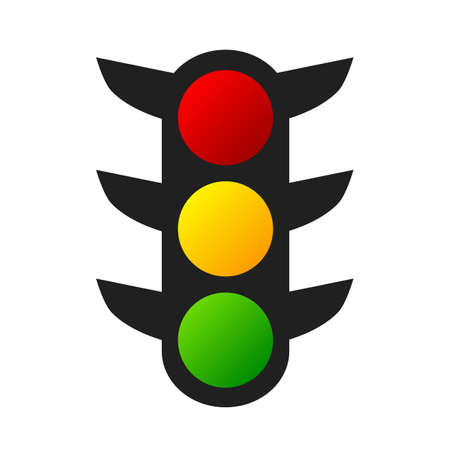 Traffic lights sign - stock vector Иллюстрация