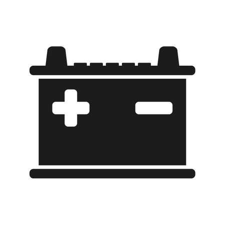 Battery icon parts for cars - stock vector Vettoriali