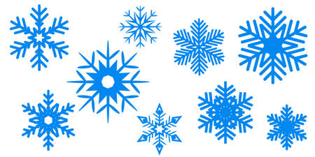 Blue New Year snowflake background - stock vector  イラスト・ベクター素材
