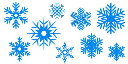 Blue New Year snowflake background - stock vector Иллюстрация