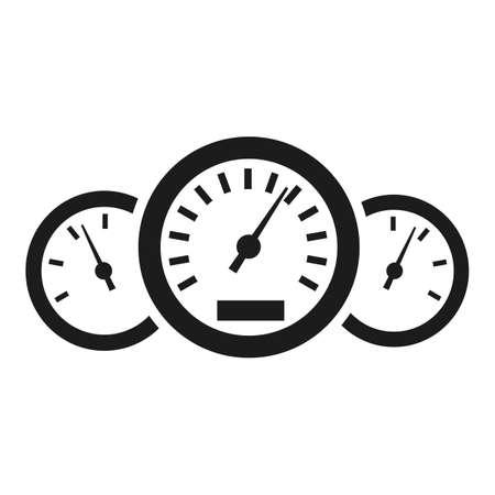 Car speedometer icon - stock vector