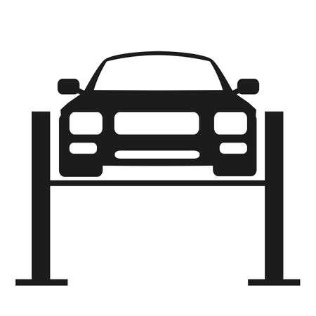 Car lift icon - stock vector