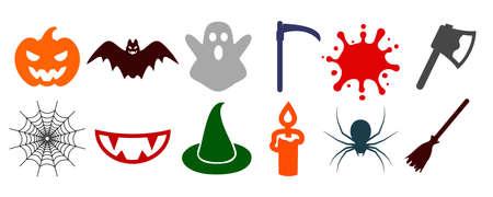 Halloween icons set - vector