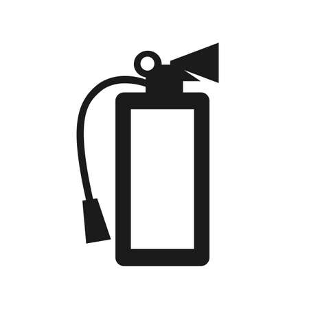 Fire extinguisher icon. Flat fire safety - stock vector